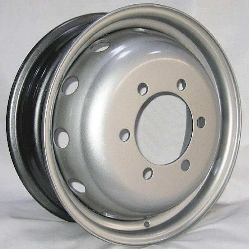 Диск Штамп. R16 6*170 +105/130 5.5 Газель усиленный 1000 кг серебро с вентилем