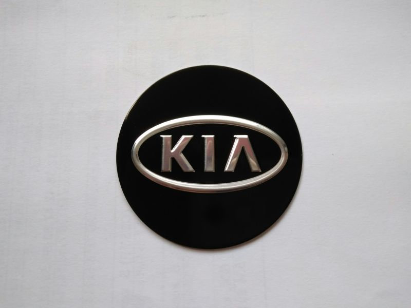 Стикер KIA 60 мм черный плоский