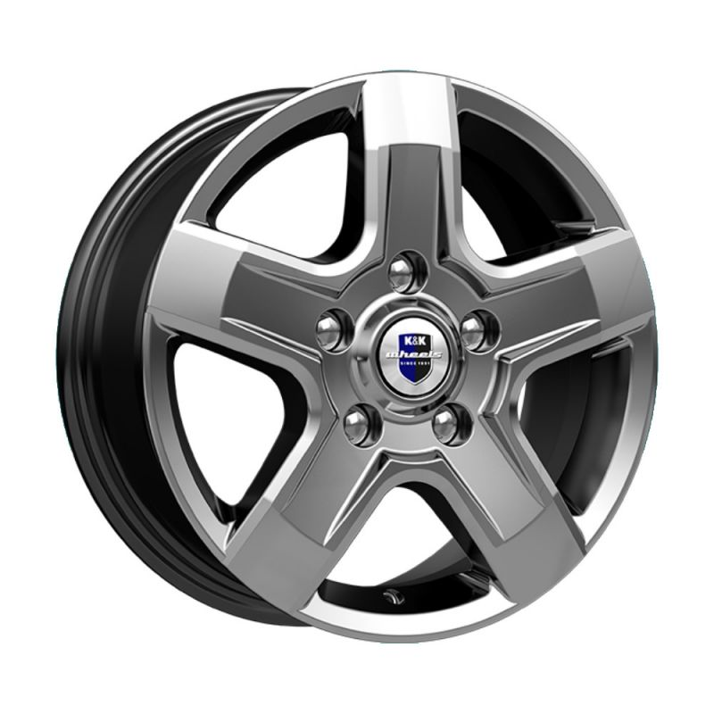 Диск K&K R16 5*130 +50/89.1 6.5 Эллада (КС746) Дарк платинум Renault Master