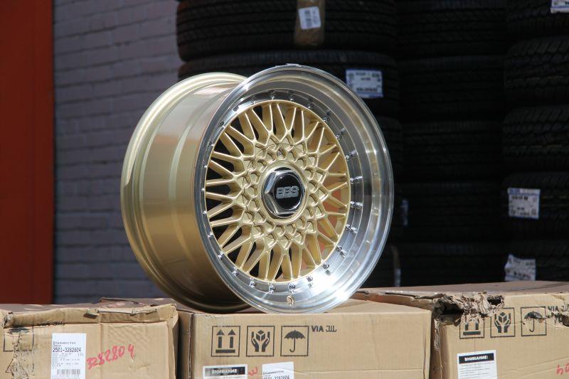 Диск BBS Super RS R17 5*100/114.3 +30/73.1 8.5 Gold ML chrome rivets