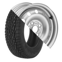 Колесо в сборе Cordiant Snow Cross 175/65 R14 82T + Диск Штамп. R14 4*98 +35/58.6 5.5J S U5035B